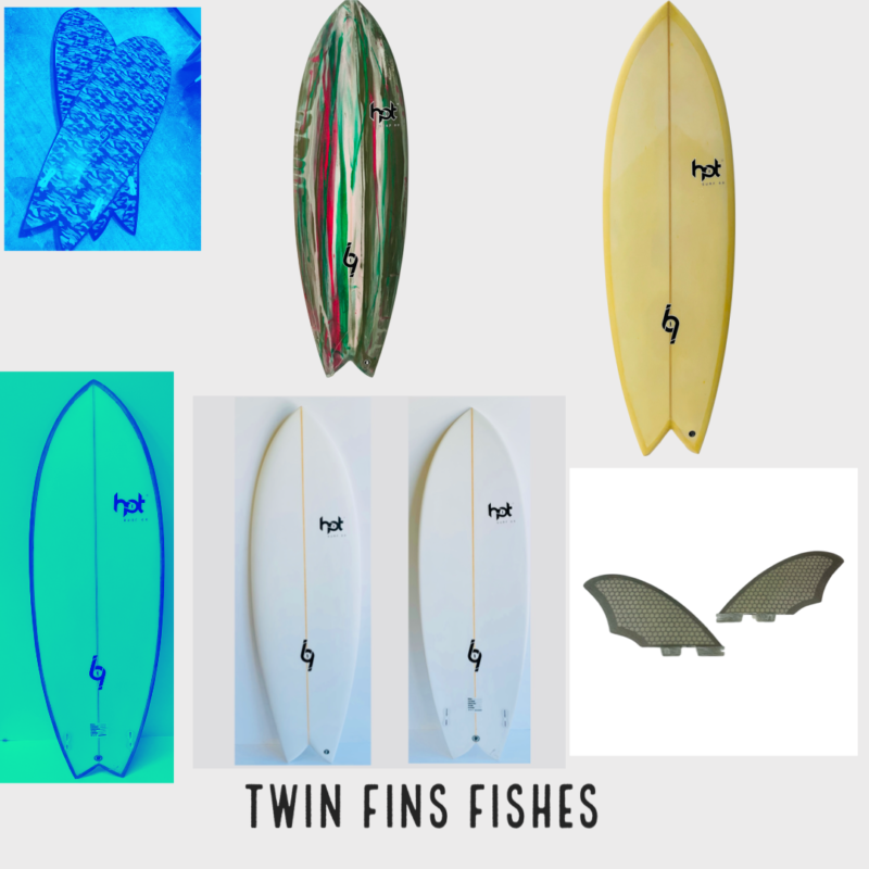"""Twin Fins """" All Sizes """""""