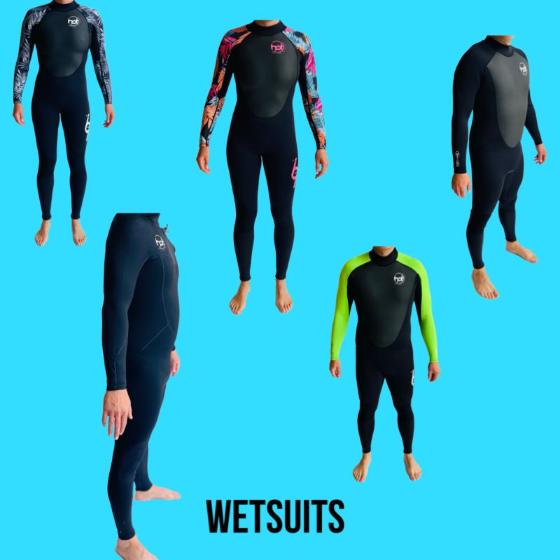 Wetsuits and accessories